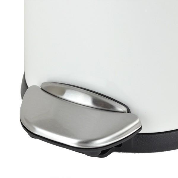 ゴミ箱 ペダル EKO ルナ ステップビン 8L ホワイト ( ごみ箱 ダストボックス おしゃれ ステンレス シンプル インナー付 洗える )|interior-palette|06