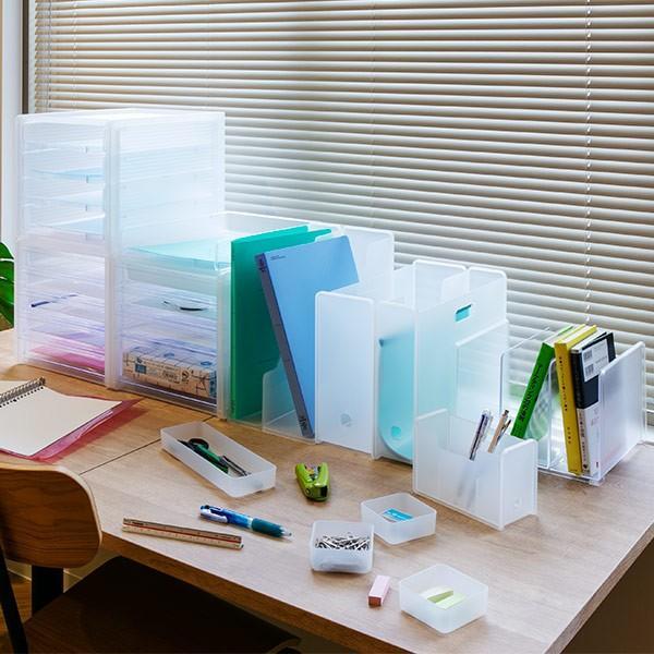 レターケース A4 浅5段 半透明 squ+ ナチュラ ソーフィス ( 収納 ファイルケース プラスチック )|interior-palette|09