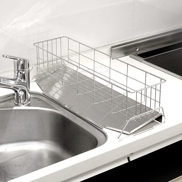 水切りラック スリム 幅20cm シンクサイド 燕三条 ステンレス製 ( 水切りカゴ 水切りかご 水切りバスケット )|interior-palette|19