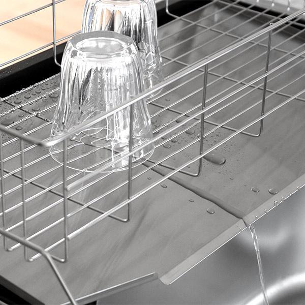 水切りラック スリム 幅20cm シンクサイド 燕三条 ステンレス製 ( 水切りカゴ 水切りかご 水切りバスケット )|interior-palette|06