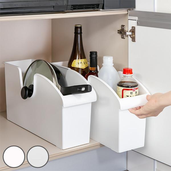 キッチン収納ケース シンクボックスM コロ付き 幅14.5cm クリア ( 収納ボックス 整理ケース シンク下ボックス )|interior-palette