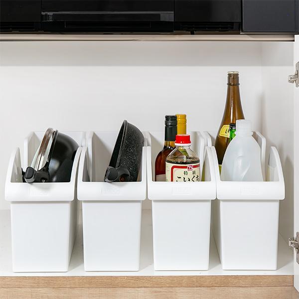 キッチン収納ケース シンクボックスM コロ付き 幅14.5cm クリア ( 収納ボックス 整理ケース シンク下ボックス )|interior-palette|11