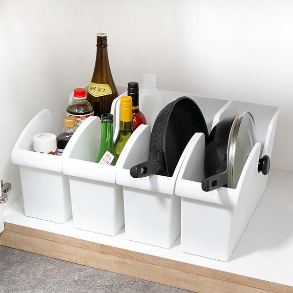 キッチン収納ケース シンクボックスM コロ付き 幅14.5cm クリア ( 収納ボックス 整理ケース シンク下ボックス )|interior-palette|12