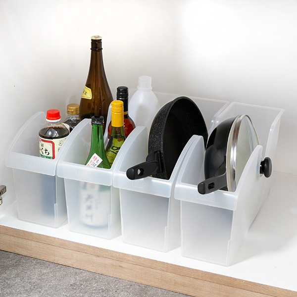キッチン収納ケース シンクボックスM コロ付き 幅14.5cm クリア ( 収納ボックス 整理ケース シンク下ボックス )|interior-palette|13