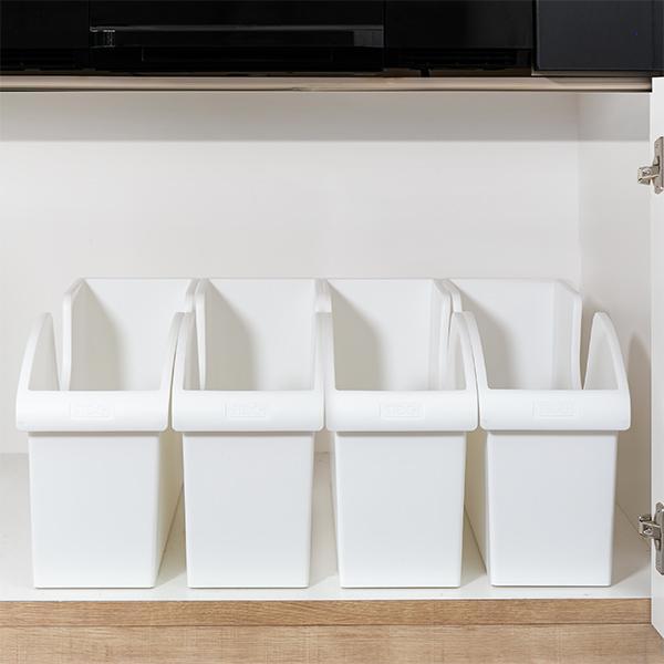キッチン収納ケース シンクボックスM コロ付き 幅14.5cm クリア ( 収納ボックス 整理ケース シンク下ボックス )|interior-palette|14