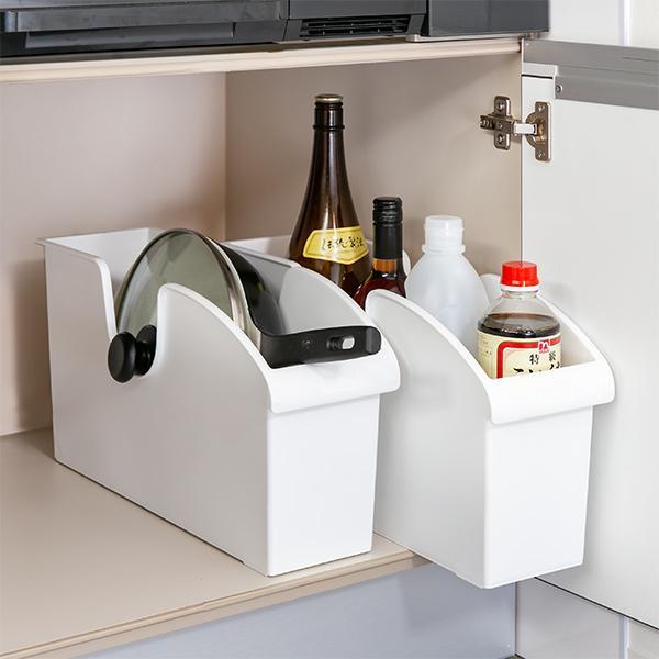 キッチン収納ケース シンクボックスM コロ付き 幅14.5cm クリア ( 収納ボックス 整理ケース シンク下ボックス )|interior-palette|04