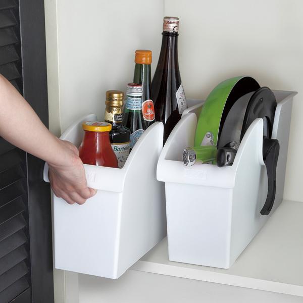 キッチン収納ケース シンクボックスM コロ付き 幅14.5cm クリア ( 収納ボックス 整理ケース シンク下ボックス )|interior-palette|05