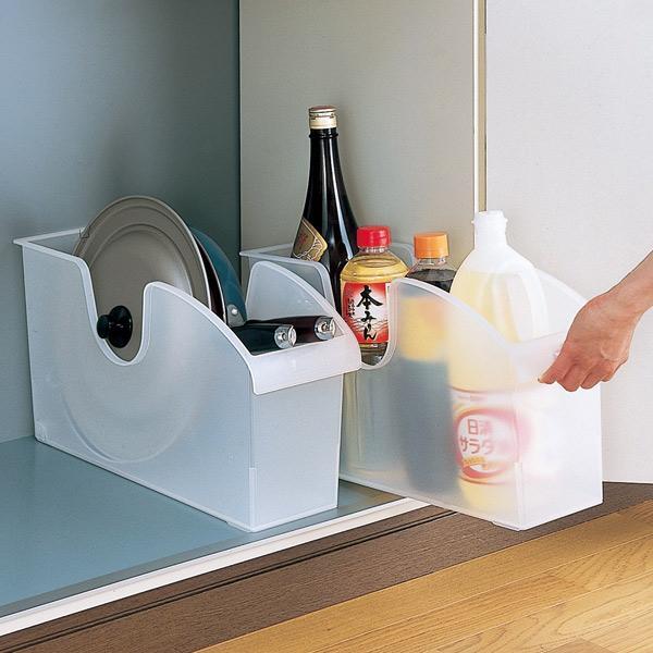 キッチン収納ケース シンクボックスM コロ付き 幅14.5cm クリア ( 収納ボックス 整理ケース シンク下ボックス )|interior-palette|06