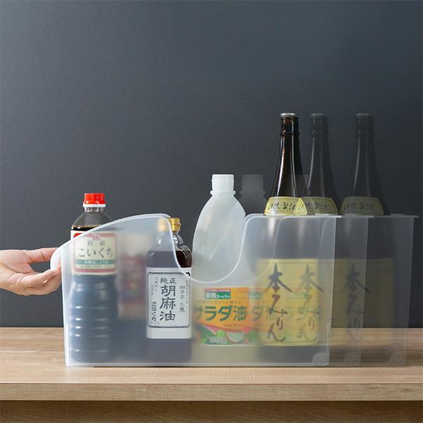 キッチン収納ケース シンクボックスM コロ付き 幅14.5cm クリア ( 収納ボックス 整理ケース シンク下ボックス )|interior-palette|09