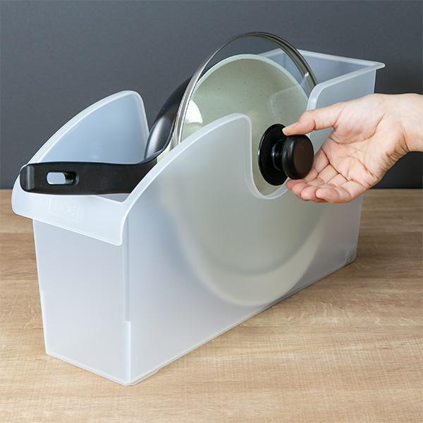 キッチン収納ケース シンクボックスM コロ付き 幅14.5cm クリア ( 収納ボックス 整理ケース シンク下ボックス )|interior-palette|10