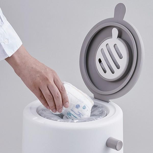 ゴミ箱 密閉 20L 防臭 おむつ ふた付き 臭わない 消臭 パッキン ダイパーポット ( ごみ箱 プッシュ 分別 おむつペール オムツ 生ゴミ ペット ダストボックス )|interior-palette|05