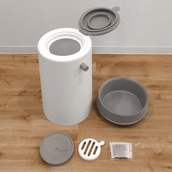 ゴミ箱 密閉 20L 防臭 おむつ ふた付き 臭わない 消臭 パッキン ダイパーポット ( ごみ箱 プッシュ 分別 おむつペール オムツ 生ゴミ ペット ダストボックス )|interior-palette|10