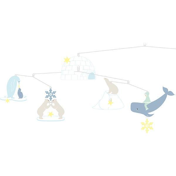 モビール ポーラーベアーズ ジェコ 北欧 おしゃれ ( DJECO メリー ベッドメリー ベビー しろくま 赤ちゃん )|interior-palette|04