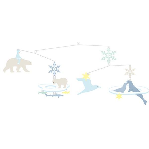 モビール ポーラーベアーズ ジェコ 北欧 おしゃれ ( DJECO メリー ベッドメリー ベビー しろくま 赤ちゃん )|interior-palette|05