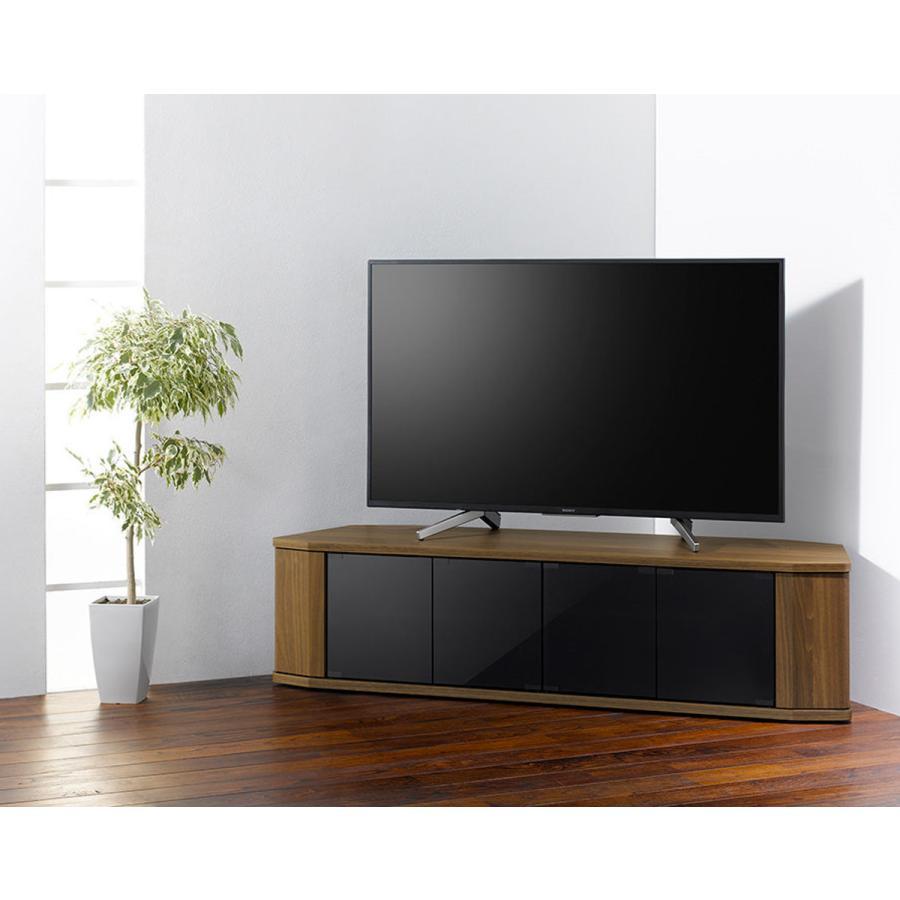 テレビ台 コーナー型 ワイド 木目調 スモークガラス 約幅149cm ( テレビボード TV台 TVボード コーナータイプ 60 50 おしゃれ 北欧 ) interior-palette 06