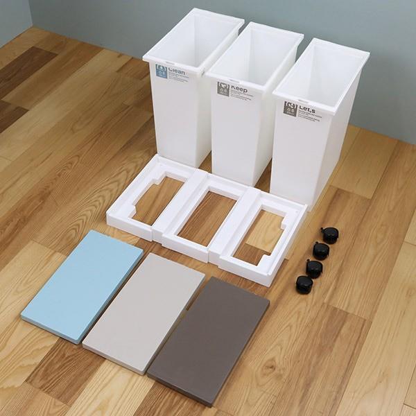 ゴミ箱 分別 台座付オープンペール 3個セット キャスター付き ( ごみ箱 分別ゴミ箱 ふた付き )|interior-palette|11