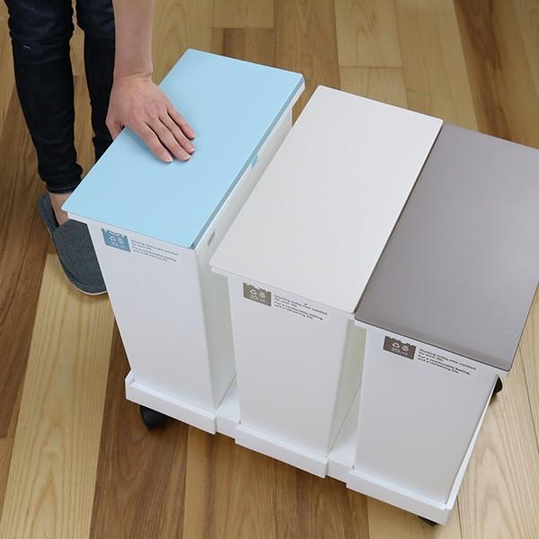 ゴミ箱 分別 台座付オープンペール 3個セット キャスター付き ( ごみ箱 分別ゴミ箱 ふた付き )|interior-palette|12