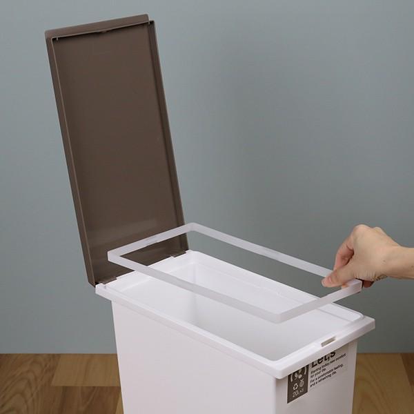 ゴミ箱 分別 台座付オープンペール 3個セット キャスター付き ( ごみ箱 分別ゴミ箱 ふた付き )|interior-palette|14