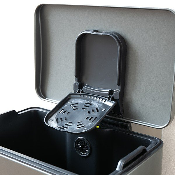 ゴミ箱 ペダル 20L Lase ステンレス ふた付き JAVA ( ごみ箱 フタ付き ダストボックス )|interior-palette|20