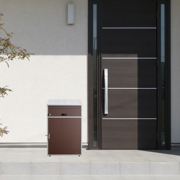 郵便ポスト 宅配ボックス 一戸建て用 大容量 ワイド ブラウン リシム ( 2段 宅配BOX 戸建 屋外 ポスト 荷物受け メール便 宅配便 メールボックス POST )|interior-palette|11