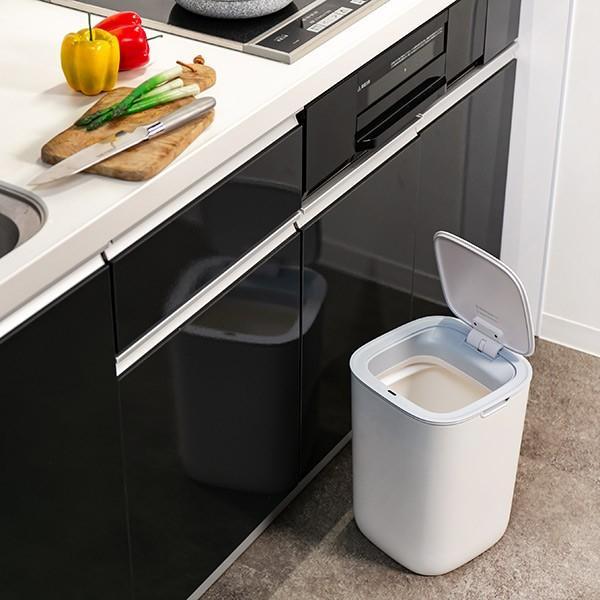 ゴミ箱 EKO モランディ 防臭 センサー 12L パッキン付き ( ごみ箱 自動 ダストボックス 臭わない キッチン ふた付き )|interior-palette|14