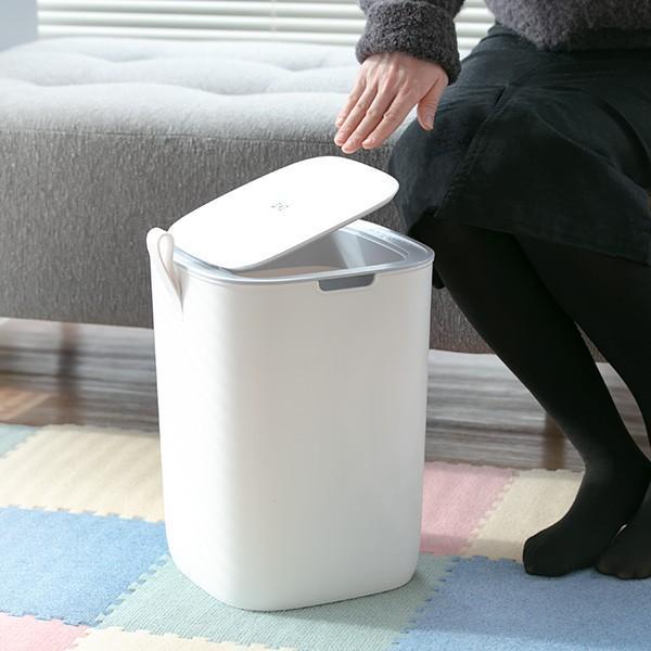 ゴミ箱 EKO モランディ 防臭 センサー 12L パッキン付き ( ごみ箱 自動 ダストボックス 臭わない キッチン ふた付き )|interior-palette|16