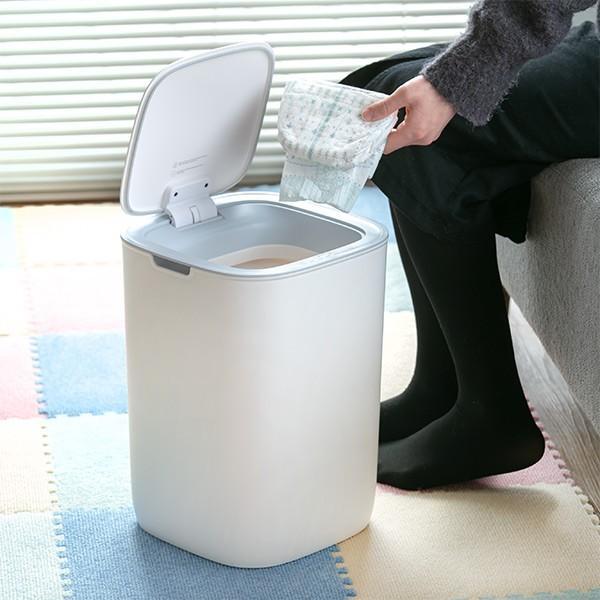 ゴミ箱 EKO モランディ 防臭 センサー 12L パッキン付き ( ごみ箱 自動 ダストボックス 臭わない キッチン ふた付き )|interior-palette|17