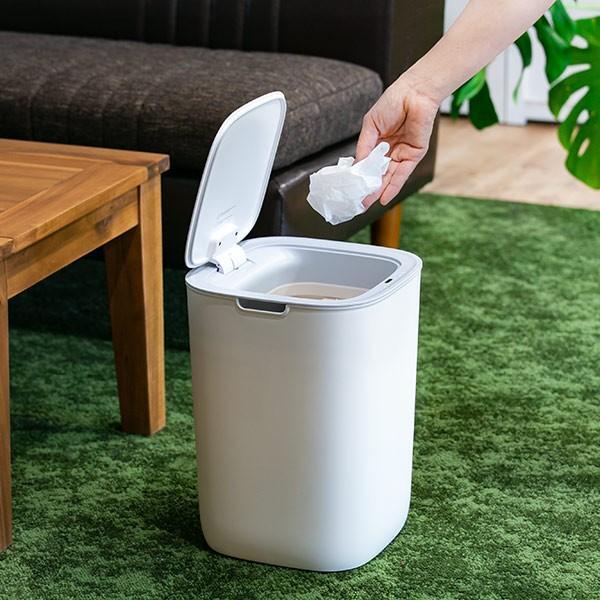 ゴミ箱 EKO モランディ 防臭 センサー 12L パッキン付き ( ごみ箱 自動 ダストボックス 臭わない キッチン ふた付き )|interior-palette|06
