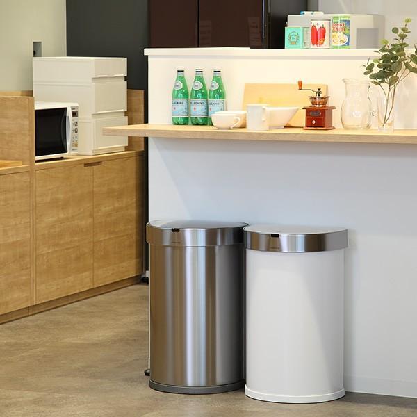 正規品 ゴミ箱 シンプルヒューマン simplehuman センサーカン セミラウンド 45L ふた付き ( 分別 ごみ箱 スリム ST2018 )|interior-palette|12