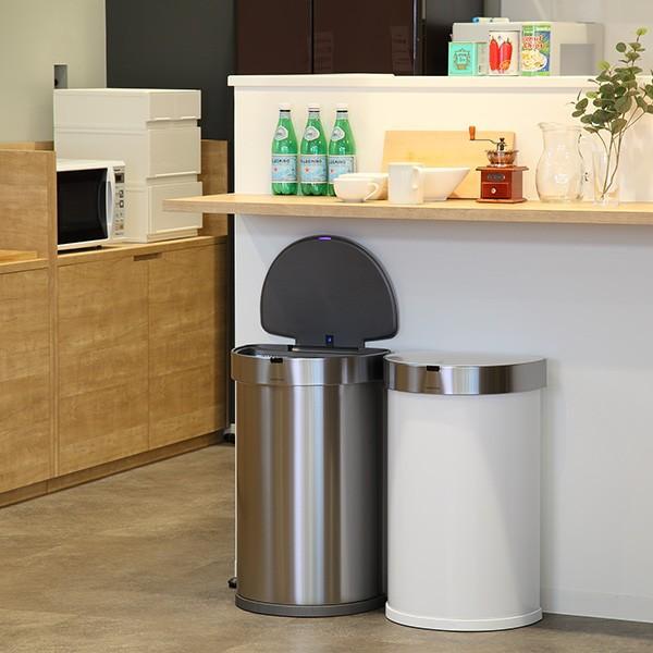 正規品 ゴミ箱 シンプルヒューマン simplehuman センサーカン セミラウンド 45L ふた付き ( 分別 ごみ箱 スリム ST2018 )|interior-palette|13