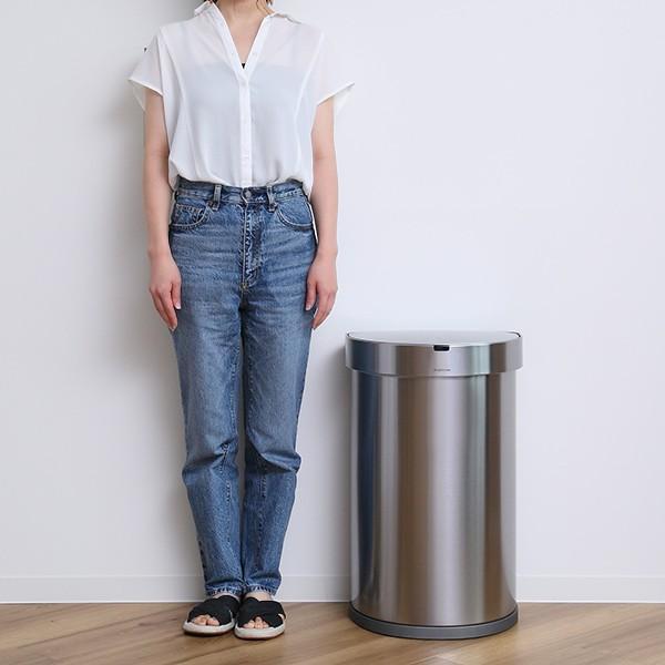正規品 ゴミ箱 シンプルヒューマン simplehuman センサーカン セミラウンド 45L ふた付き ( 分別 ごみ箱 スリム ST2018 )|interior-palette|15