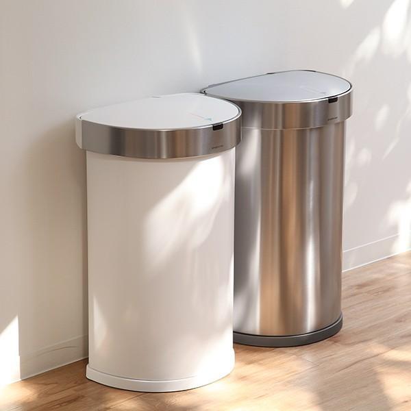 正規品 ゴミ箱 シンプルヒューマン simplehuman センサーカン セミラウンド 45L ふた付き ( 分別 ごみ箱 スリム ST2018 )|interior-palette|18