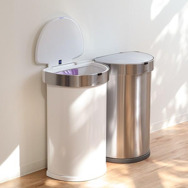 正規品 ゴミ箱 シンプルヒューマン simplehuman センサーカン セミラウンド 45L ふた付き ( 分別 ごみ箱 スリム ST2018 )|interior-palette|19