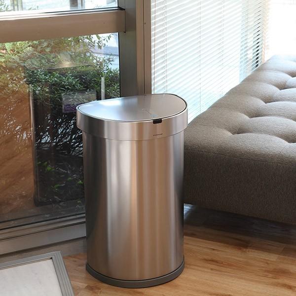 正規品 ゴミ箱 シンプルヒューマン simplehuman センサーカン セミラウンド 45L ふた付き ( 分別 ごみ箱 スリム ST2018 )|interior-palette|20