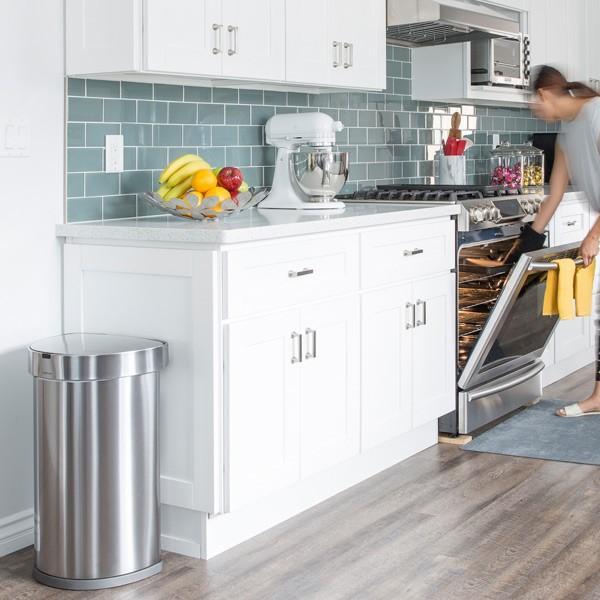 正規品 ゴミ箱 シンプルヒューマン simplehuman センサーカン セミラウンド 45L ふた付き ( 分別 ごみ箱 スリム ST2018 )|interior-palette|10