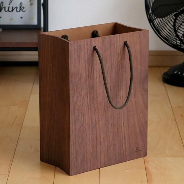 ゴミ箱 ヤマト工芸 yamato BAG dust 木製 吊り下げ 床置き ( ごみ箱 ダストボックス 壁掛け )|interior-palette|14