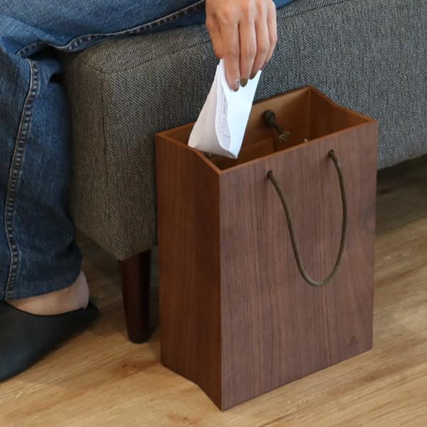 ゴミ箱 ヤマト工芸 yamato BAG dust 木製 吊り下げ 床置き ( ごみ箱 ダストボックス 壁掛け )|interior-palette|15