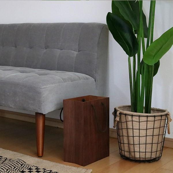 ゴミ箱 ヤマト工芸 yamato BAG dust 木製 吊り下げ 床置き ( ごみ箱 ダストボックス 壁掛け )|interior-palette|07
