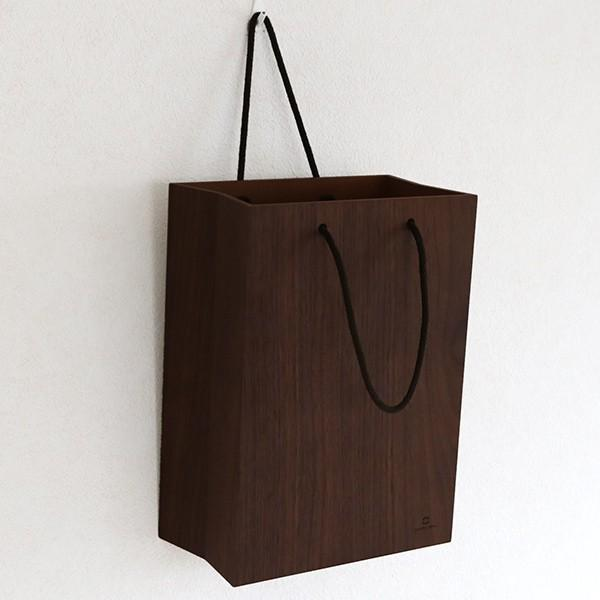 ゴミ箱 ヤマト工芸 yamato BAG dust 木製 吊り下げ 床置き ( ごみ箱 ダストボックス 壁掛け )|interior-palette|08