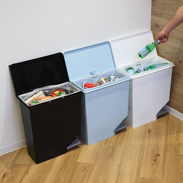 ゴミ箱 ユニード スイッチペダル 35L 横型 縦型 ペダル式 ふた付き ( ごみ箱 キッチン スリム ) interior-palette 12