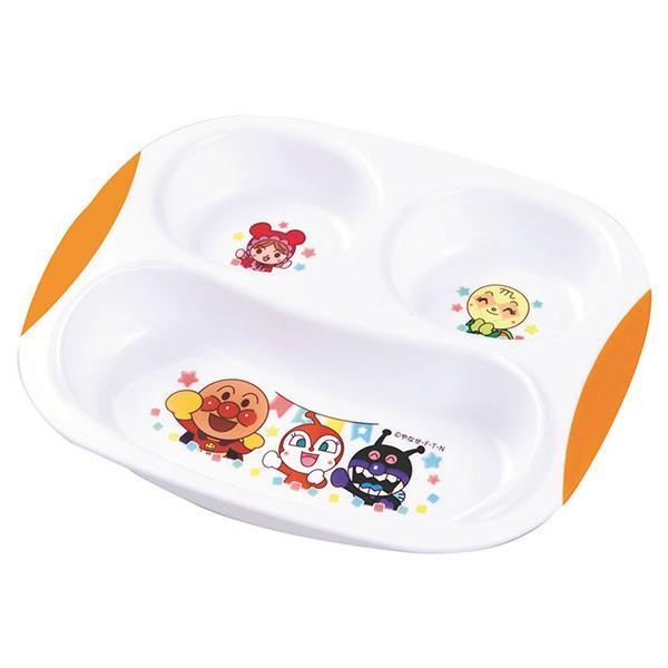 アウトレットセール 特集 ランチプレート アンパンマン 子供用食器 プラスチック製 食器 高い素材 キャラクター 電子レンジ対応 仕切り皿 プラスチック 食洗機対応 皿