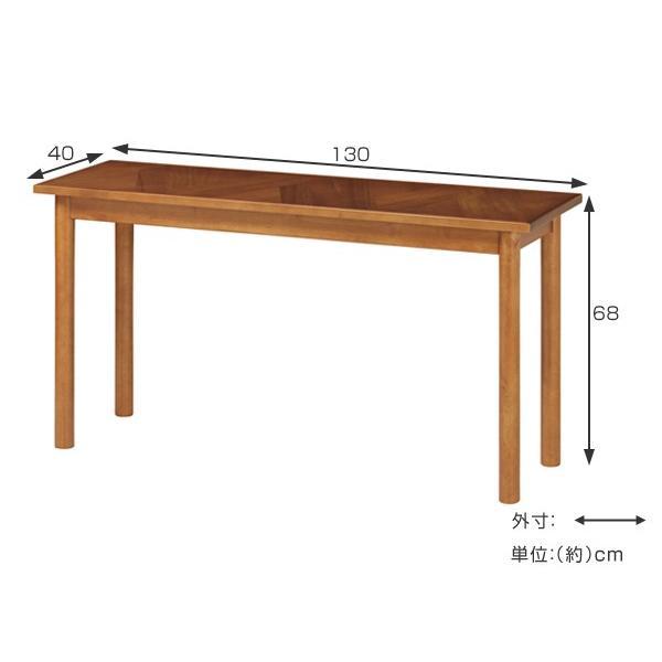デスク ロングデスク 寄木突板 ヴィンテージ調 HENT 幅130cm ( 机 テーブル アカシア 木製 リビング )|interior-palette|03