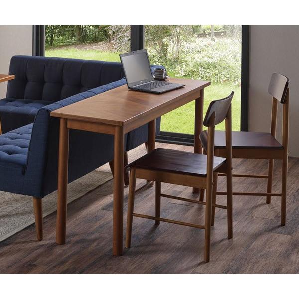 デスク ロングデスク 寄木突板 ヴィンテージ調 HENT 幅130cm ( 机 テーブル アカシア 木製 リビング )|interior-palette|04