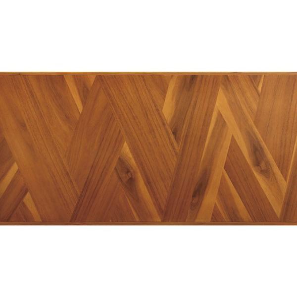 デスク ロングデスク 寄木突板 ヴィンテージ調 HENT 幅130cm ( 机 テーブル アカシア 木製 リビング )|interior-palette|05