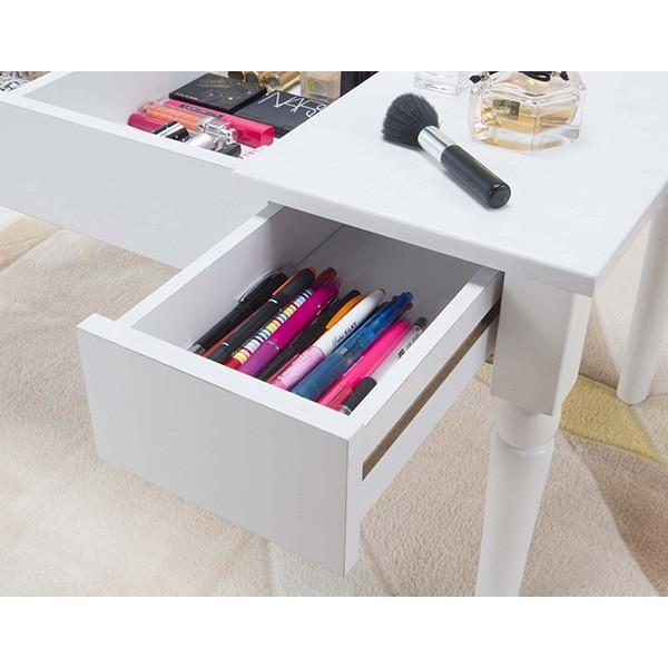 テーブル 幅80cm コスメテーブル ミラー付き コスメ アクセサリー 収納 ドレッサー センターテーブル ( デスク メイク台 化粧台 ローテーブル )|interior-palette|06
