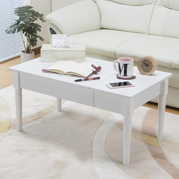 テーブル 幅80cm コスメテーブル ミラー付き コスメ アクセサリー 収納 ドレッサー センターテーブル ( デスク メイク台 化粧台 ローテーブル ) interior-palette 07