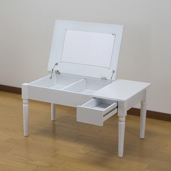 テーブル 幅80cm コスメテーブル ミラー付き コスメ アクセサリー 収納 ドレッサー センターテーブル ( デスク メイク台 化粧台 ローテーブル ) interior-palette 09