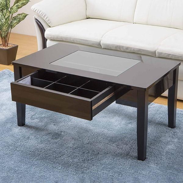 テーブル 幅80cm コレクションテーブル コスメ アクセサリー 収納 センターテーブル ( リビングテーブル ローテーブル 引き出し ディスプレイ ) interior-palette 05