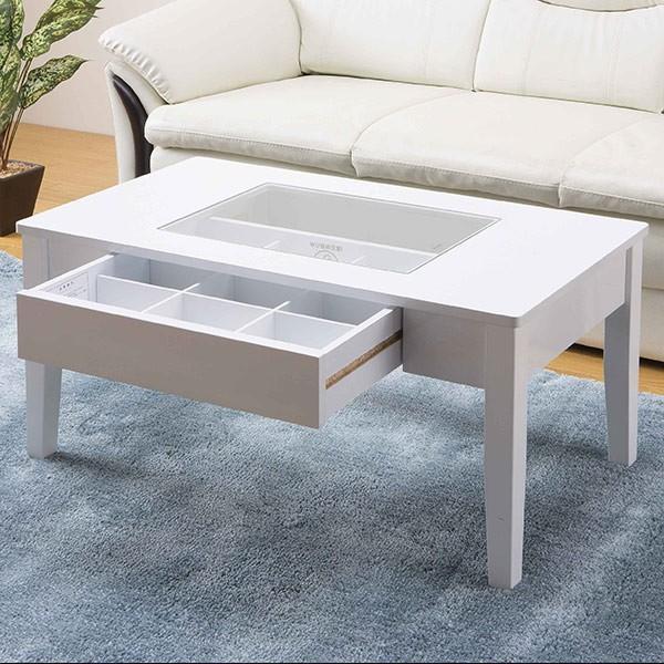 テーブル 幅80cm コレクションテーブル コスメ アクセサリー 収納 センターテーブル ( リビングテーブル ローテーブル 引き出し ディスプレイ ) interior-palette 07