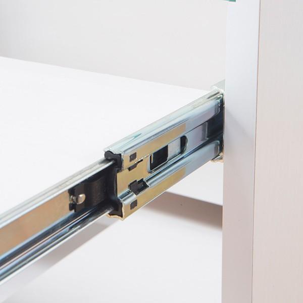 サイドテーブル 幅40cm コスメボックス ガラス天板 コンパクト コスメ アクセサリー 収納 マガジンラック ( テーブル ミニ ドレッサー ソファテーブル )|interior-palette|09